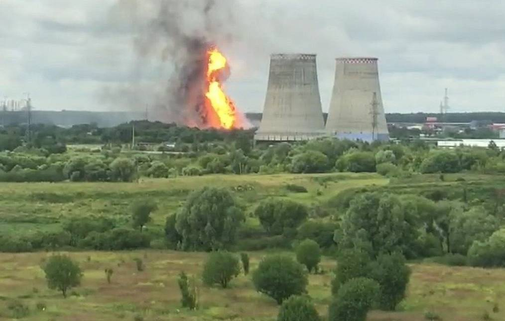 Major fire breaks out at power station in Moscow region