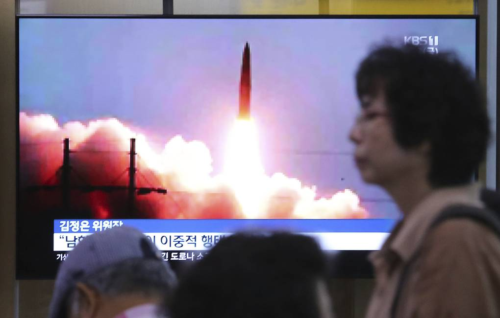 North Korea missile launches a 'solemn warning' - state media