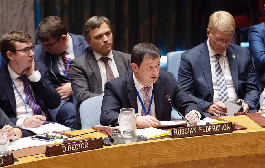 Russia's acting Permanent Representative to the UN Dmitry Polyasnky EPA-EFE  BRYAN R. SMITH