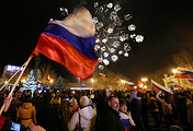 Crimeans celebrating after the referendum