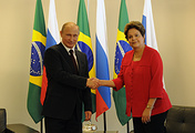 Russian President Vladimir Putin and his Brazilian counterpart Dilma Rousseff