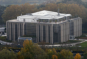 the headquarters building of Interpol