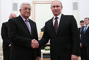 Mahmoud Abbas and Vladimir Putin