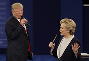 Republican presidential nominee Donald Trump and Democratic presidential nominee Hillary Clinton