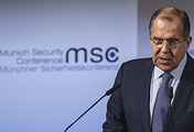 Russian Foreign Minister Sergei Lavrov at the 53rd Munich Security Conference