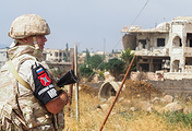 A Russian military police officer in Syria