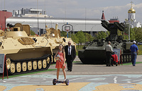 Milex-2017 military exhibition in Minsk