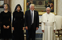 Ivanka Trump, US first lady Melania Trump, US President Donald Trump and Pope Francis, Vatican, May 24