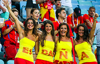 Spain's football fans at Fisht Stadium in Sochi