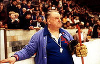 Soviet national ice hockey team head coach Anatoly Tarasov, 1979