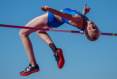 Mariya Kochanova of Russia competes in the Athletics Womens High Jump during The Youth Olympic Games