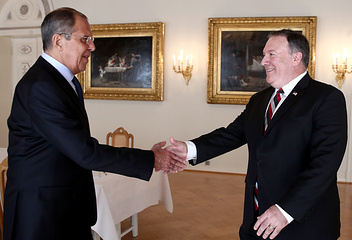Russian Foreign Minister Sergey Lavrov and US Secretary of State Mike Pompeo