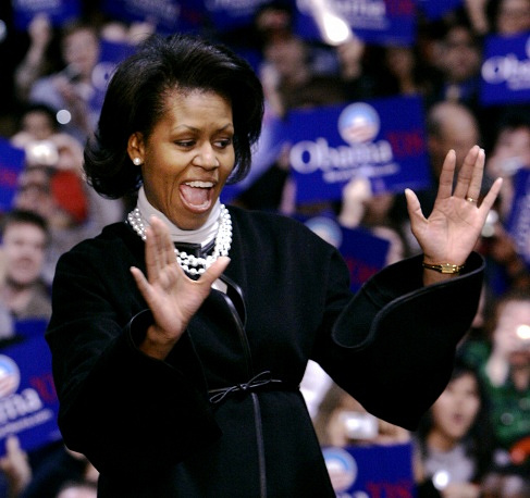 Michelle Obama took an active part in Barack Obama's election campaign in 2007-2008