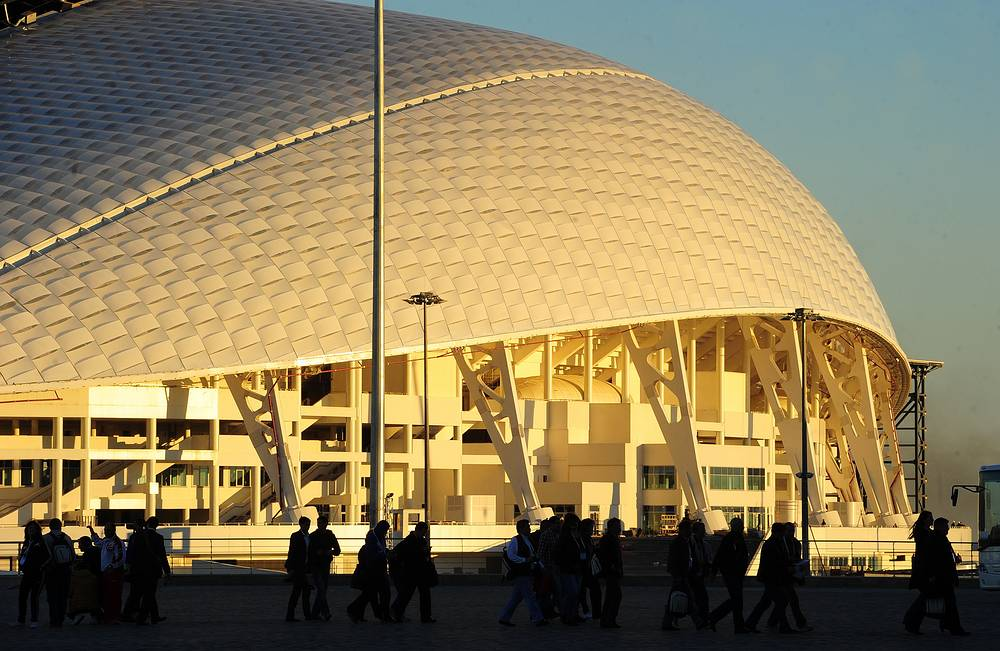 Olympic stadium Fisht will host the opening and closing ceremonies of the Olympics