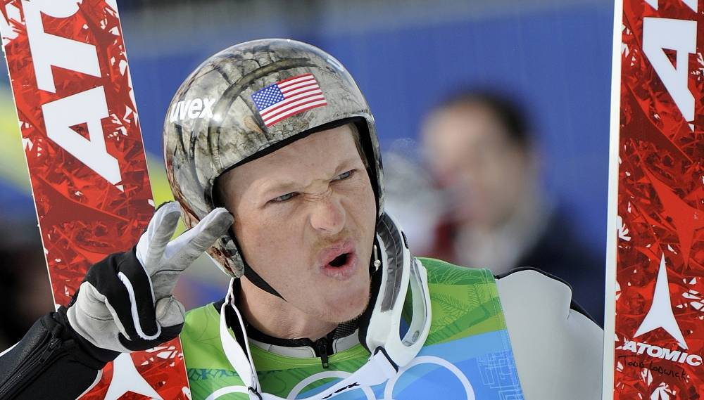 American nordic combined skier Todd Lodwick will bear the flag for the US team
