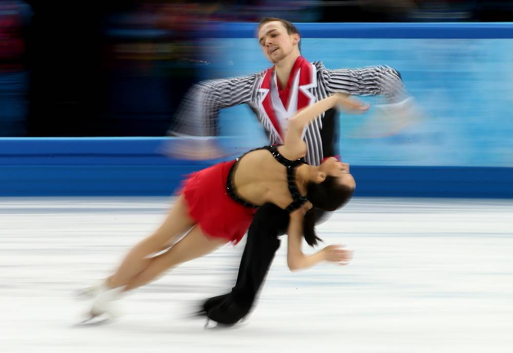 Ksenia Stolbova and Fedor Klimov of Russia perform during the Pairs Free Skating of the Figure Skating event