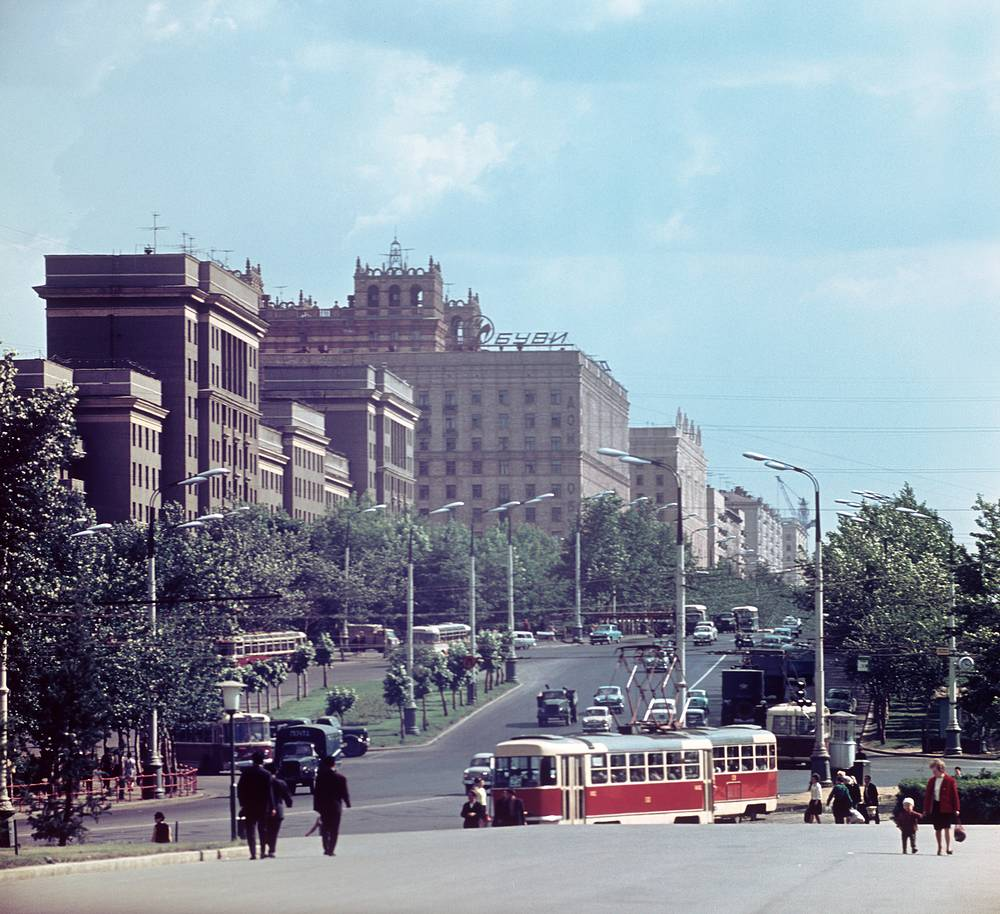 A trams in Moscow in 1967