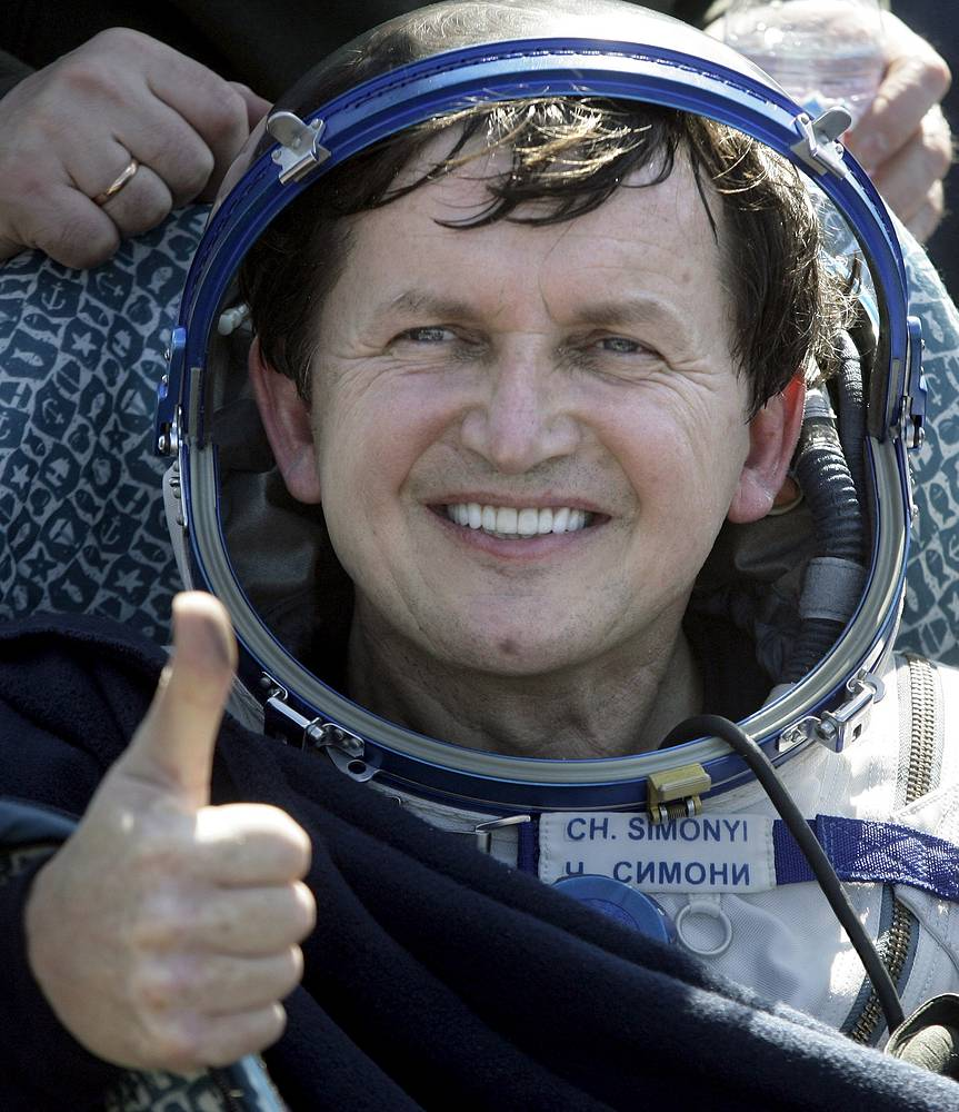 Charles Simonyi, an American businessman of Hungarian origin was the fifth to take a space flight to the ISS. He flew with Soyuz TMA-10 and spent 12 days on the station (April 9-21, 2007), paying $35 mln