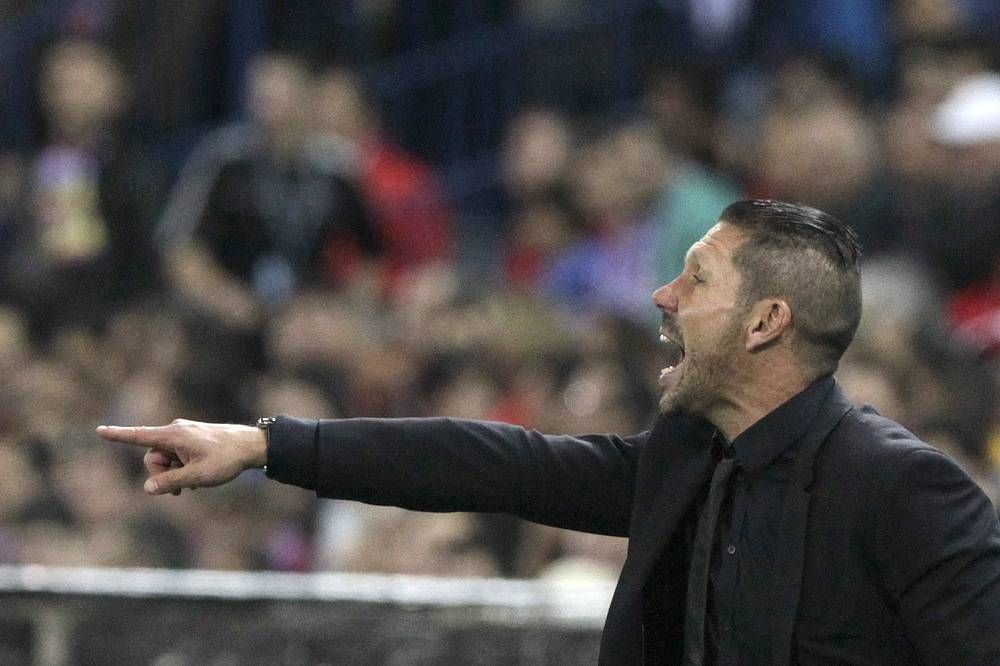 Atletico Madrid's Argentinian head coach Diego Simeone