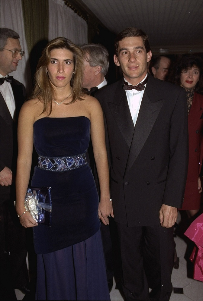 Senna was married to Lilian de Vasconcelos Souza from 1981 until 1982. After that, he was involved many times, though never got married again. Photo: Ayrton Senna holds the hand of his girlfriend Yanin Adriane