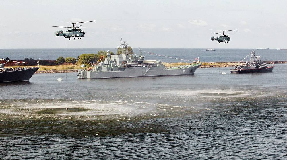 The Russian Baltic See Fleet's major amphibious ship Minsk