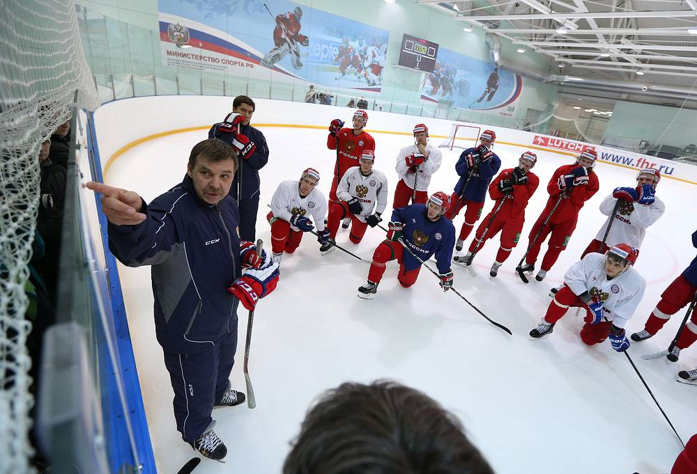 Oleg Znarok was appointed head coach after the Olympics in Sochi. He will be coaching the national team for four years, preparing it for the 2018 Olympics in Pyeongchang