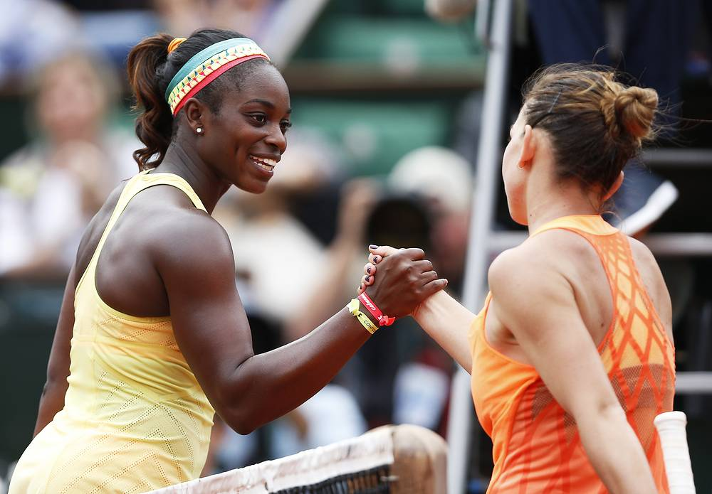 The fourth round match between Simona Halep of Romania with Sloane Stephens of USA ended  6-4, 6-3. Halep adcanced to quaterfinals