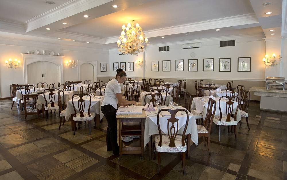 Restaurant at the San Raphael Country Hotel, where Russia's 2014 World Cup team will stay during the World Cup in Itu, Brazil