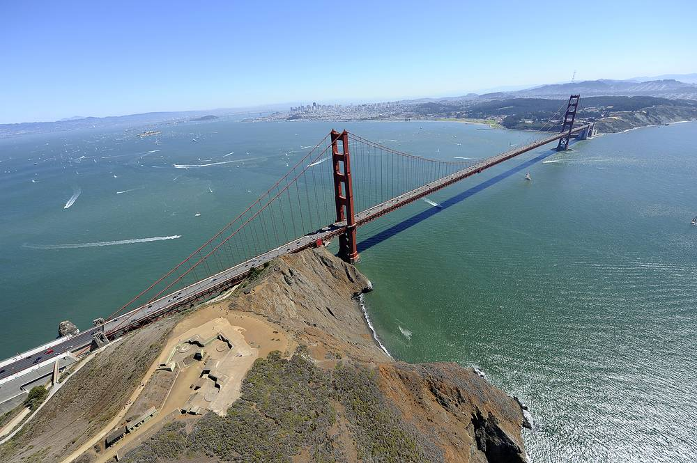 The Golden Gate bridge is a symbol of San Francisco and one of the most photographed bridges in the world. Built in 1937, it held the record of the longest suspension bridge main span until 1964