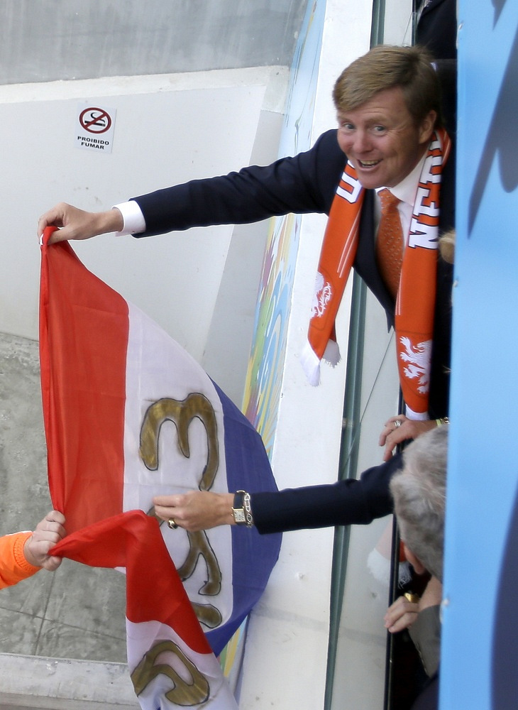 King of the Netherlands Willem-Alexander and Queen Maxima cheered for their team in the match against  Australia