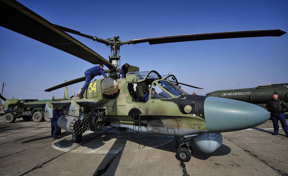 Ka-52 attack helicopter