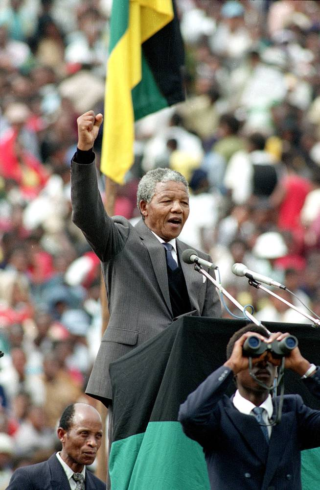 Released in 1990, he continued his fight and became South Africa's first black president in 1994