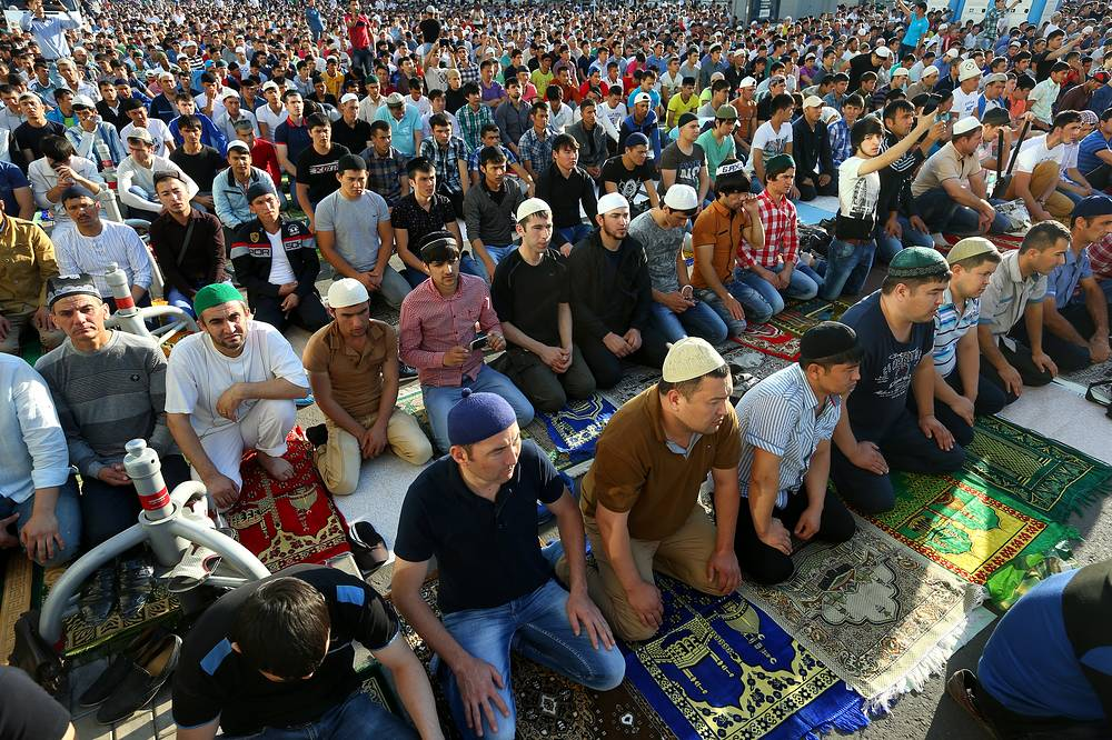 Eid al-Fitr celebration in Moscow