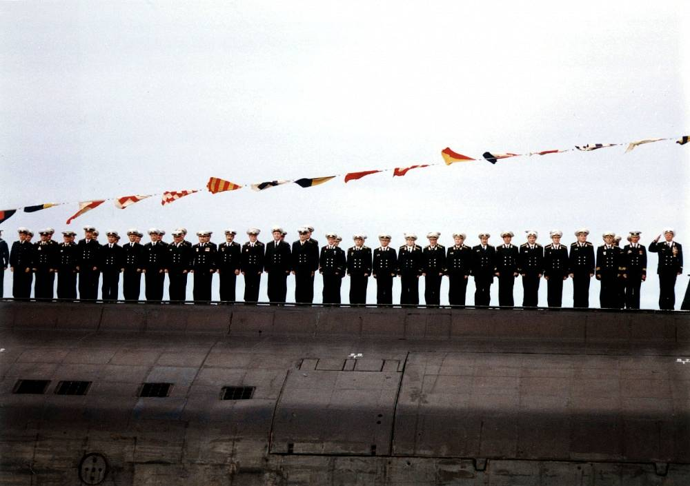 The crew of the nuclear submarine Kursk