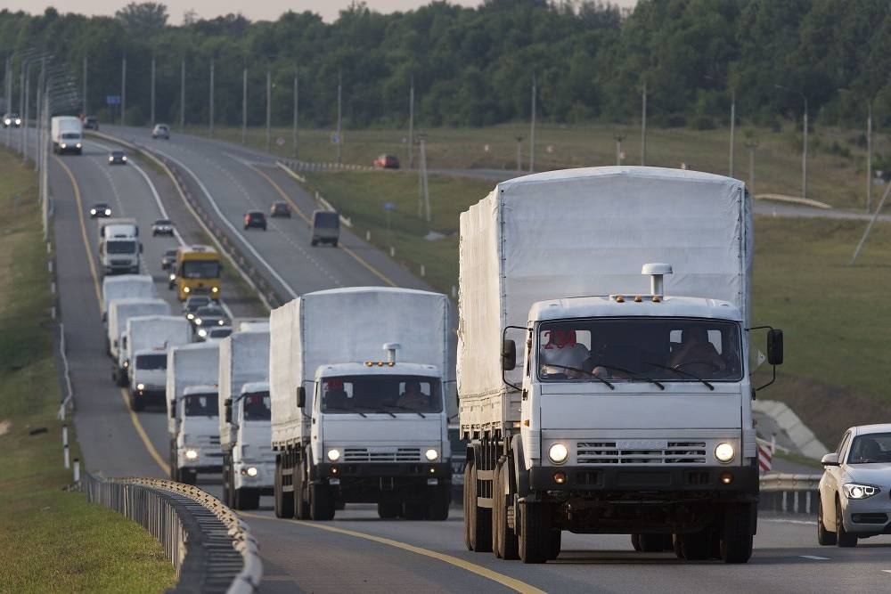 On August 13 the convoy reached the city of Voronezh