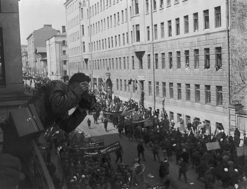 A parade on May 1 (Labor Day) in Moscow, 1932
