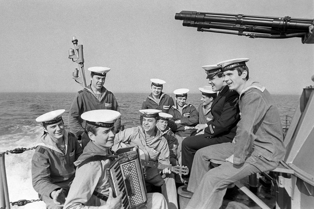 On a border-guarding ship, 1981