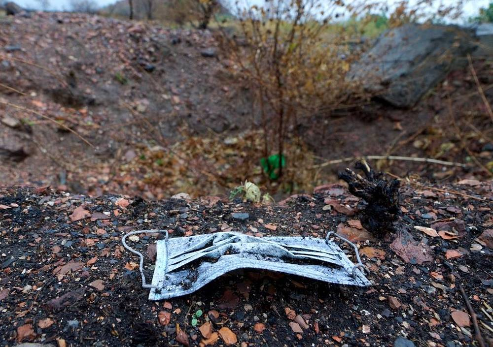 A mass grave found in eastern Ukraine