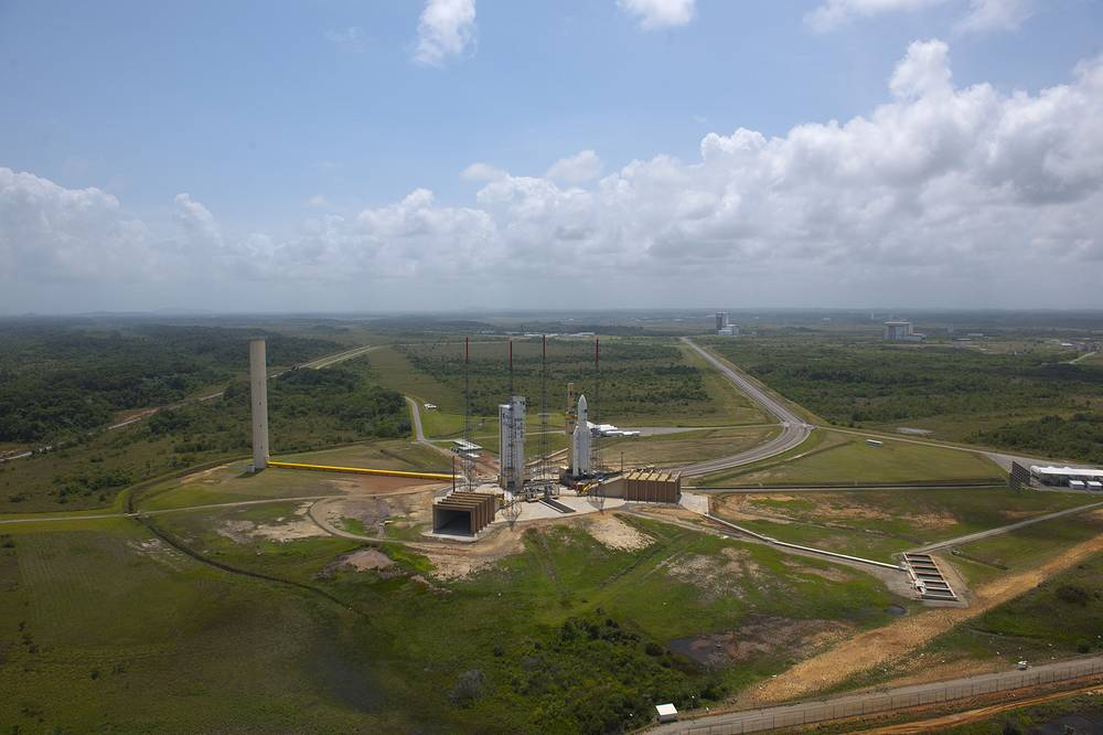 Europe's Spaceport in Kourou is located in French Guiana. Photo: Ariane 5 carrying ESA's latest Automated Transfer Vehicle, named Johannes Kepler, February 14, 2011