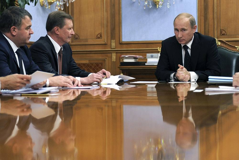 Vladimir Putin spent his 2011 birthday in Moscow, speaking at the meeting on the military-industrial complex