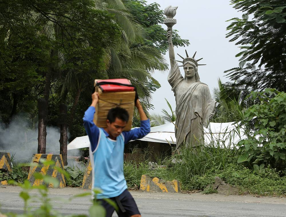 Photo: replica of the Statue of Liberty in Antipolo City, east of Manila, Philippines