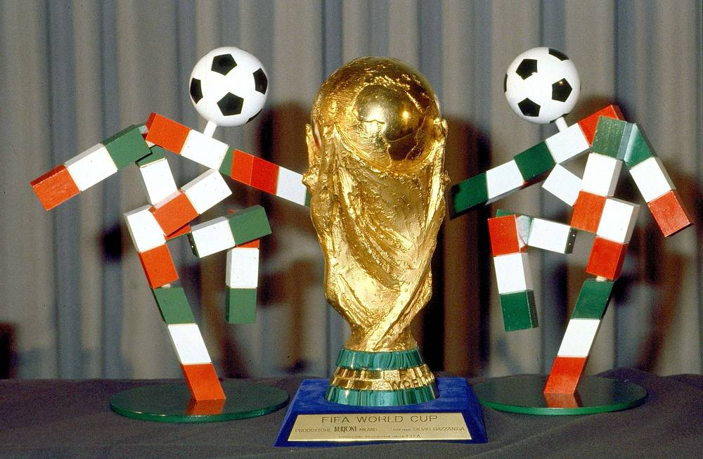 1990 FIFA World Cup took place in Italy. Photo: 1990 soccer World Cup mascots