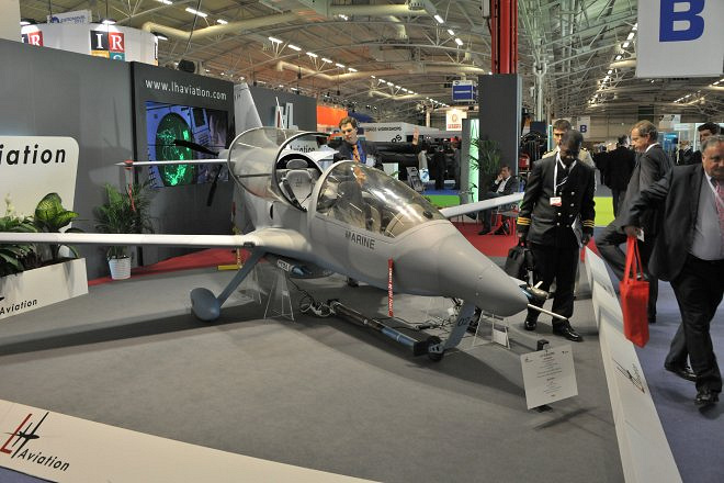 The exhibition brings together over 350 companies from 28 countries. Photo: Stand of the French company LH Aviation