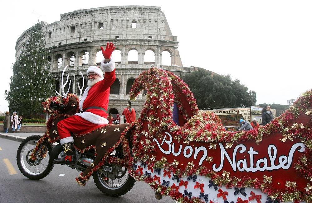 Babbo Natale, or Father Christmas is Italy's version of Santa Claus. So children get gifts from both Babbo Natale and Befana in Italy