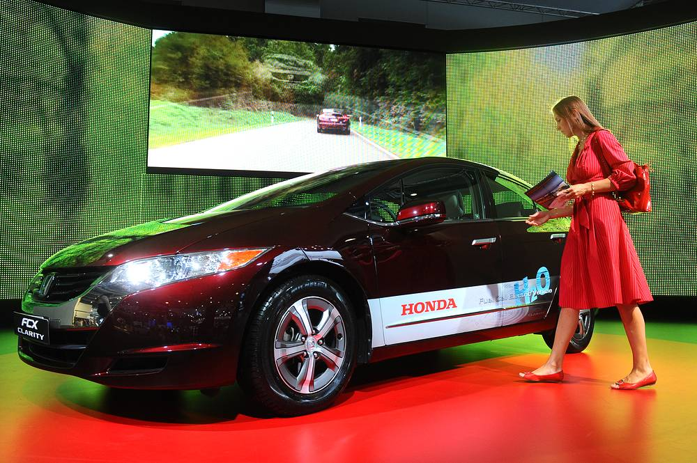 Honda FCX Clarity is a zero-emissions, hydrogen powered fuel cell vehicle