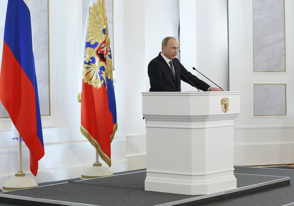 The United States always influences Russia's relations with neighbouring states directly or behind-the-scenes, Russian President Vladimir Putin said