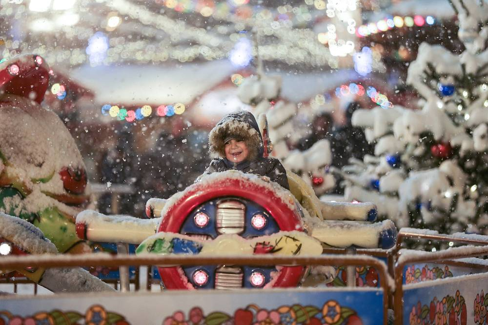 Photo: Merry-go-round in Moscow's Red Square