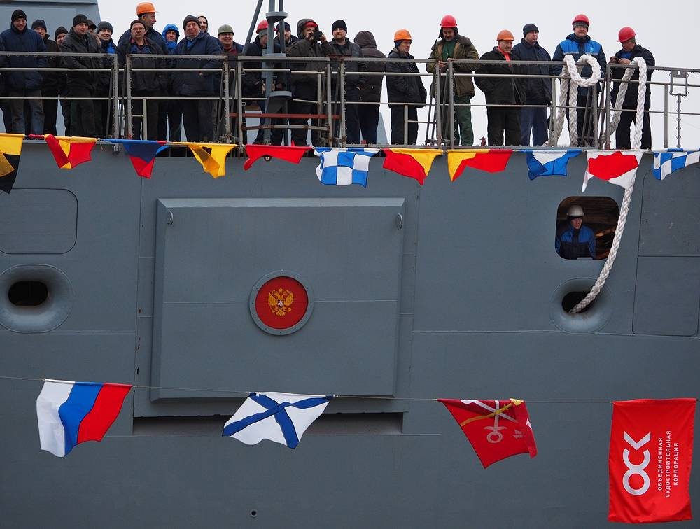 Admiral Gorshkov, the first warship of the project, is already at sea trials. Photo: Admiral Kasatonov frigate