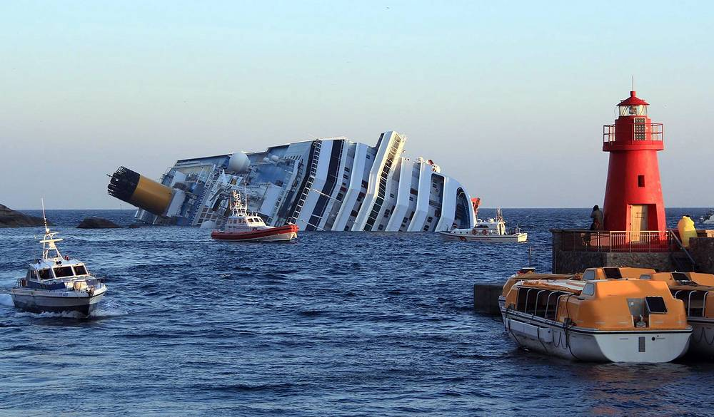 The Costa Concordia cruise liner struck a reef and capsized on January 14, 2012