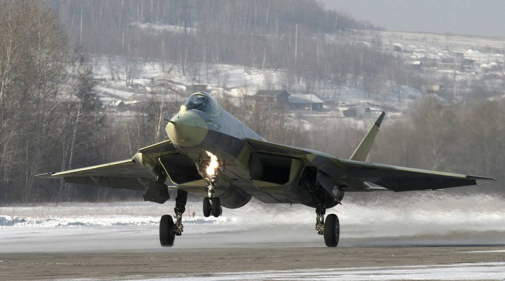 Russian Sukhoi T-50 prototype fifth-generation fighter jet made its first test flight on January 29, 2010